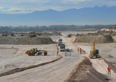 Pistas de Faena y Planta de Hormigones para proyecto ampliación Aeropuerto Arturo Merino Benítez